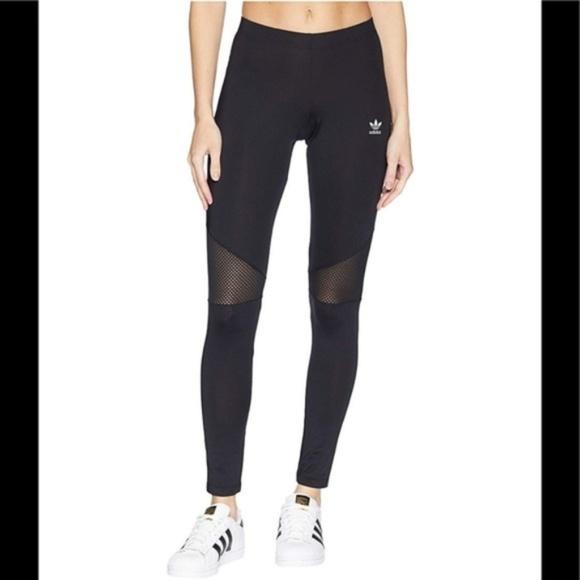 Adidas Cutout Leggings Running Tights Black Mesh oxeBdC